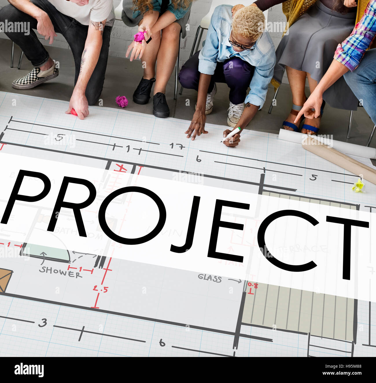 Project Plan Strategy Estimate Collaboration Job Concept - Stock Image