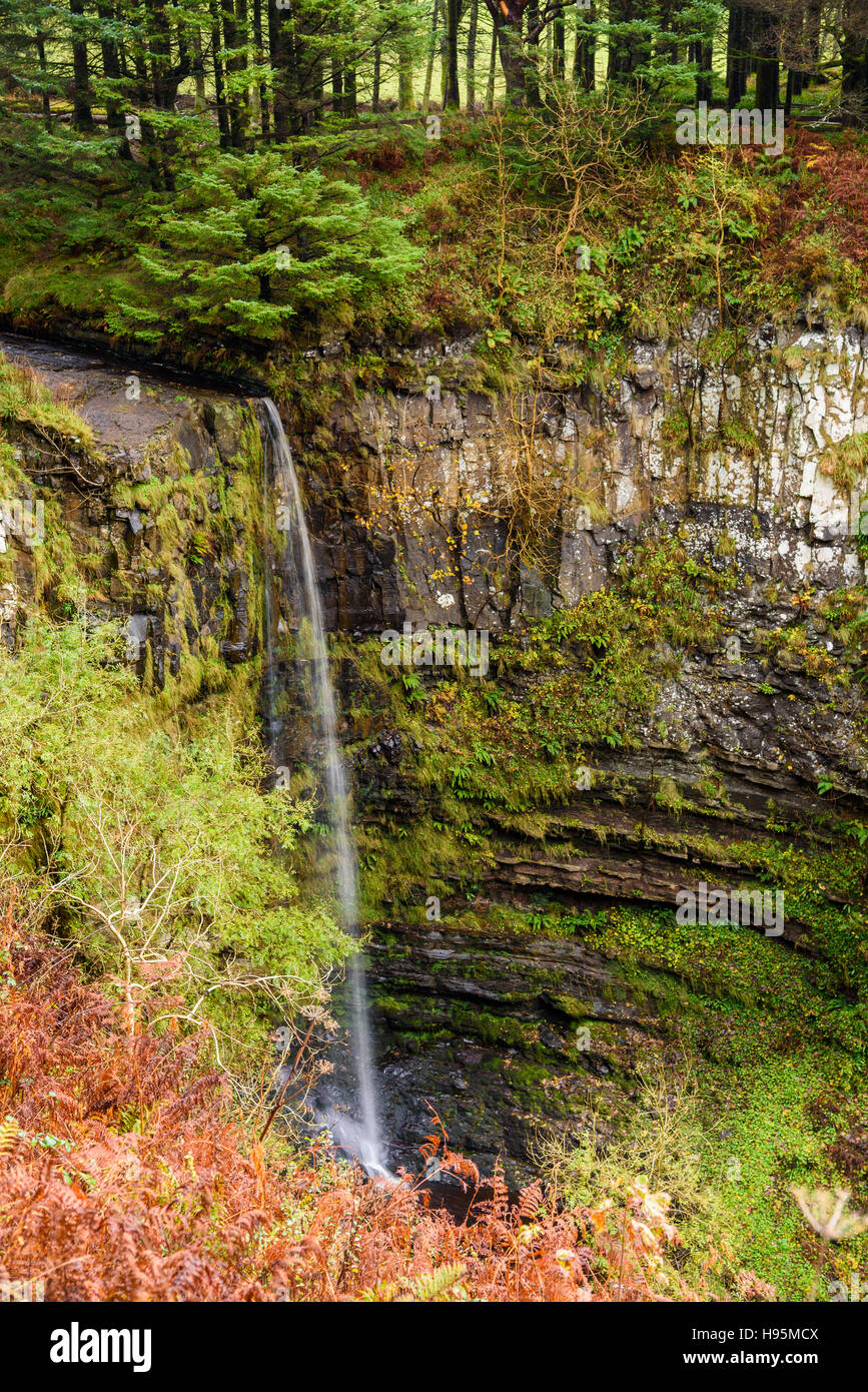 Esa Mor waterfall, near Kildonan, Isle of Arran, North Ayrshire, Scotland - Stock Image