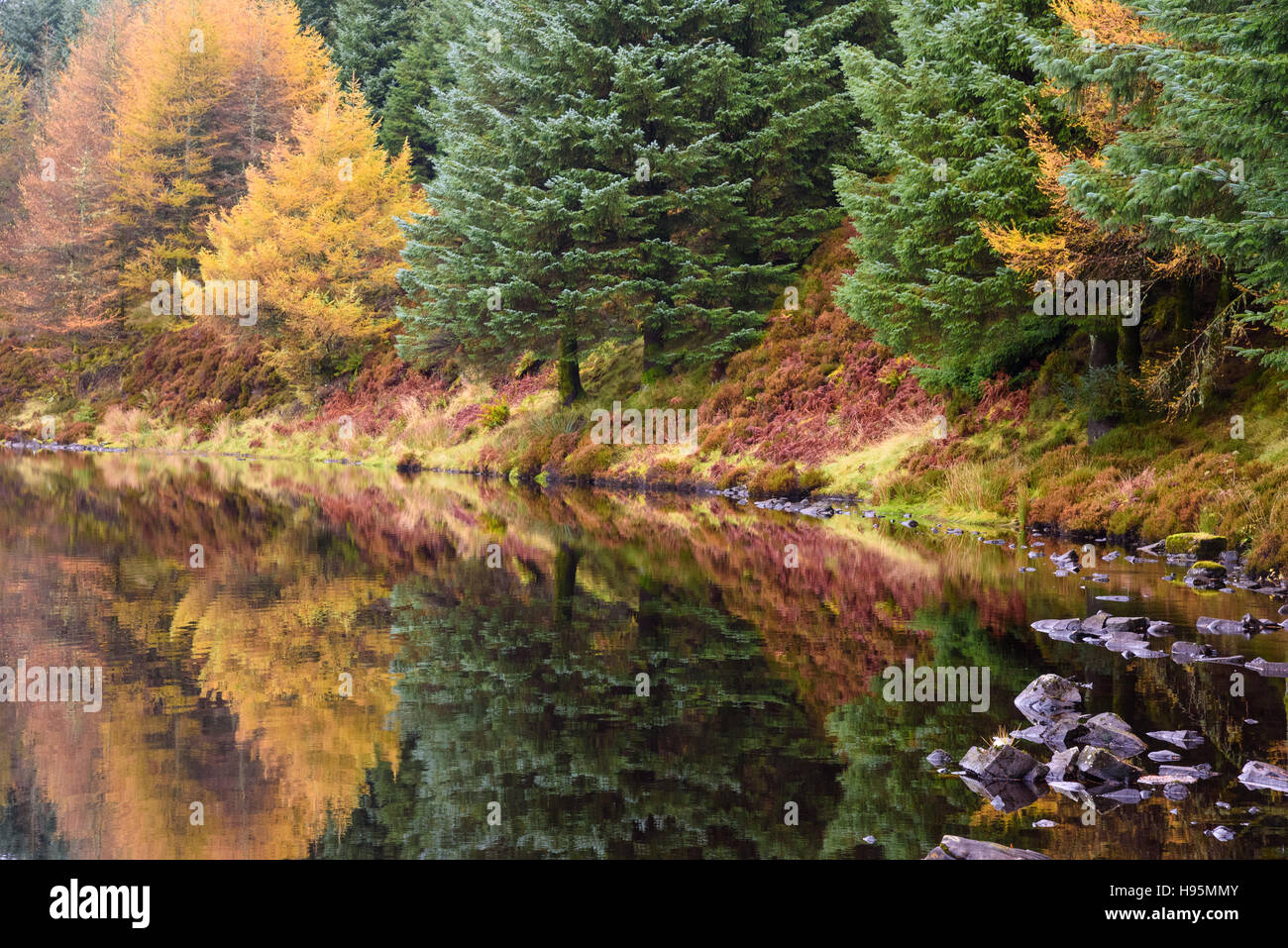 Loch Garbad, near Kildonan, Isle of Arran, North Ayrshire, Scotland - Stock Image