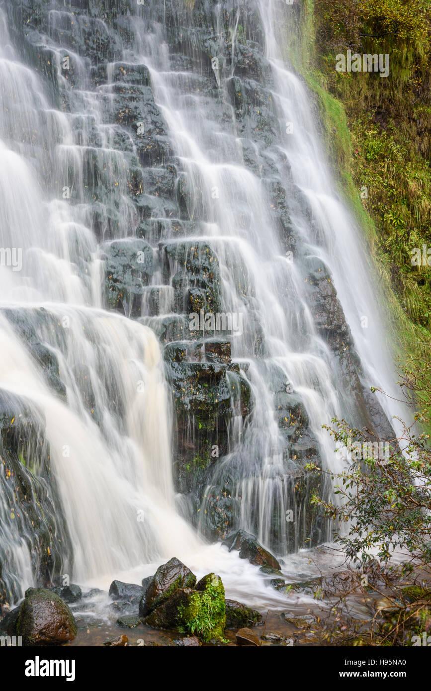 Waterfall near Kildonan shore, Isle of Arran, North Ayrshire, Scotland Stock Photo
