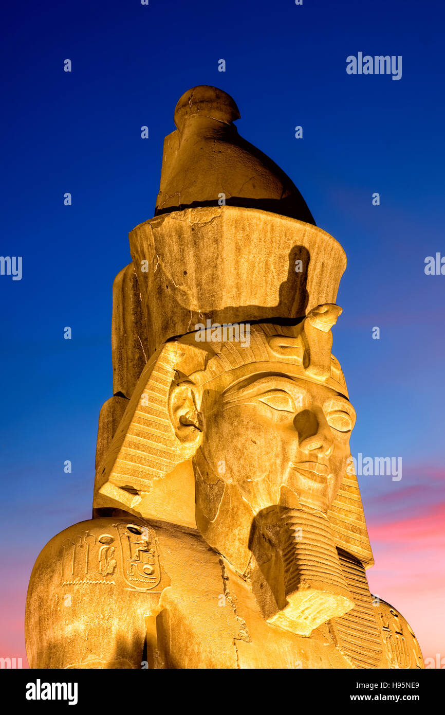 Statue Of Ramesses II At Luxor Temple, Egypt - Stock Image
