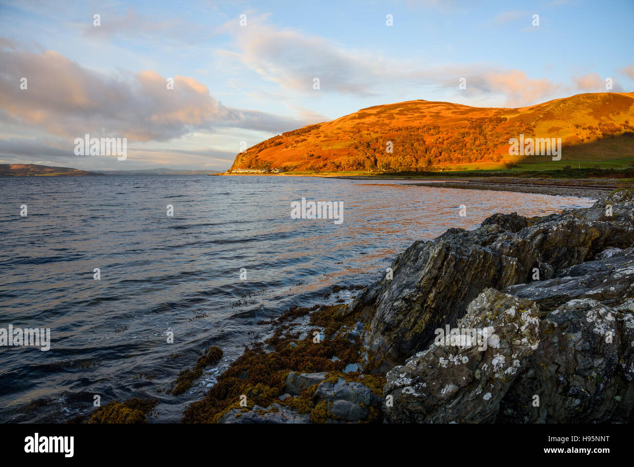 Catacol, Isle of Arran, North Ayrshire, Scotland - Stock Image
