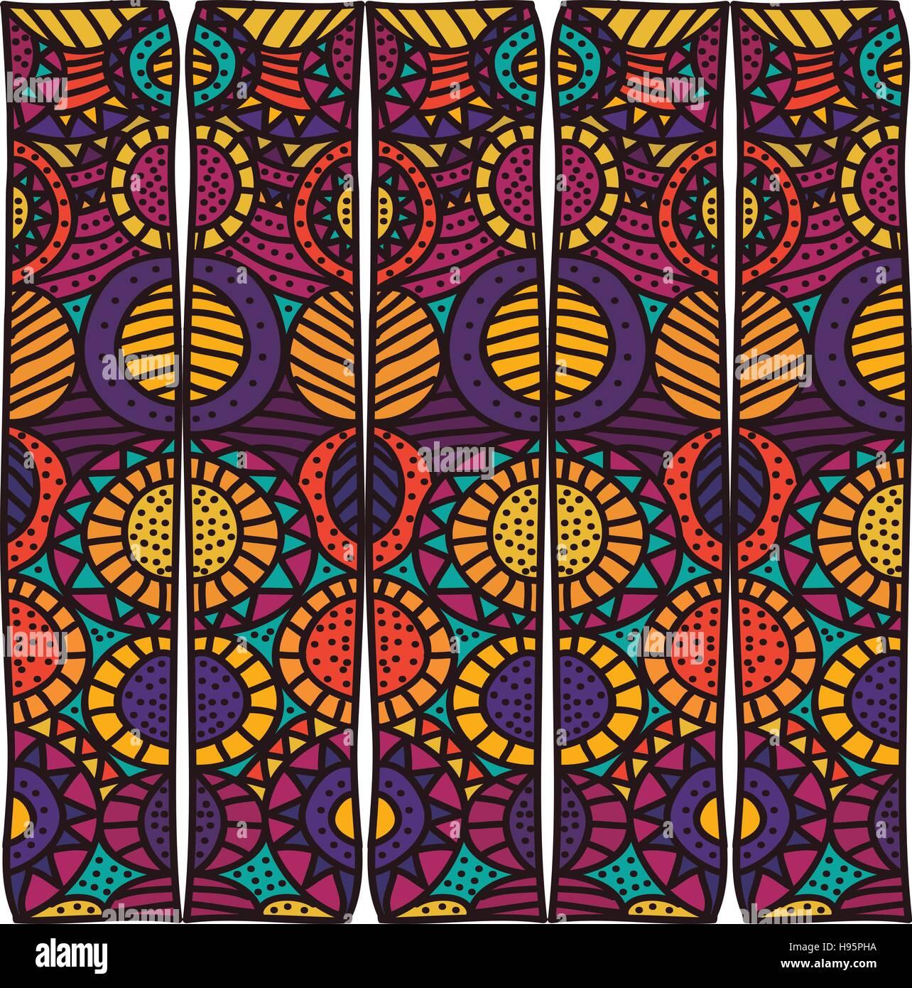 bohemian or boho pattern icon image - Stock Image