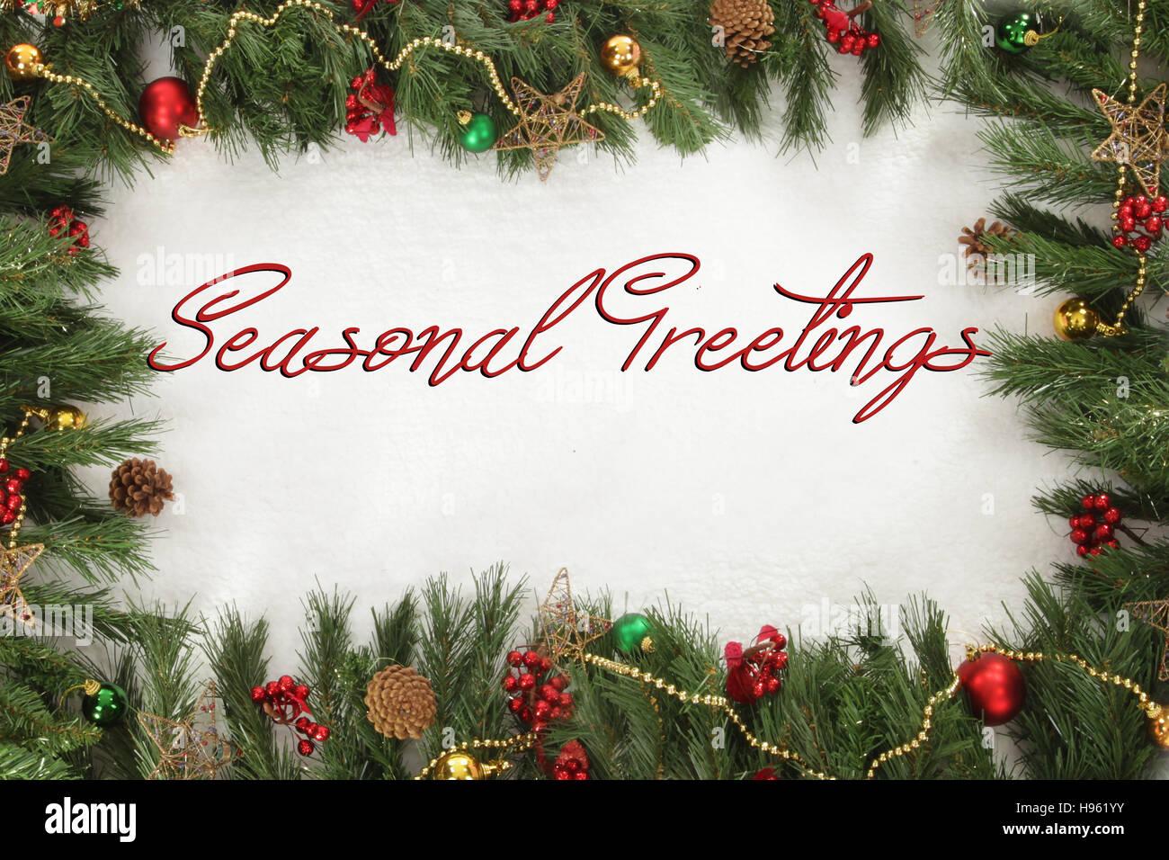 Seasonal greetings festive and seasonal christmas sign stock photo seasonal greetings festive and seasonal christmas sign m4hsunfo