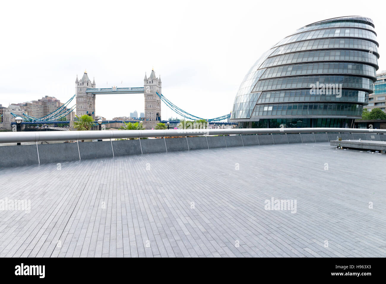 Tower bridge and London Assembly - Stock Image