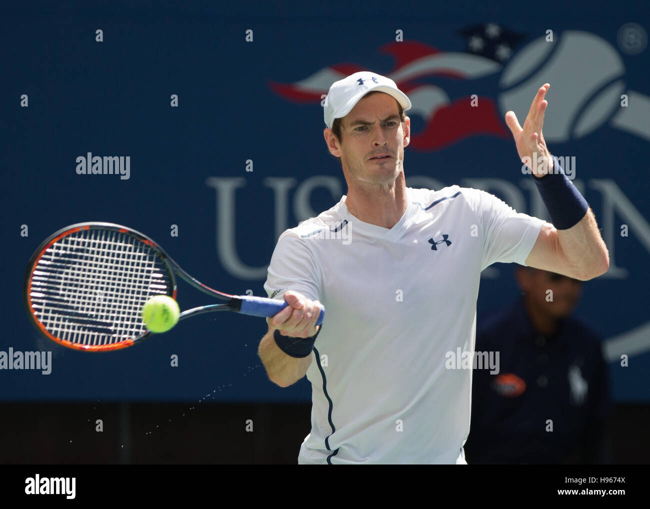 Andy Murray (GBR) at the US Open 2016 Championships in Flushing Meadows,New York,USA. Stock Photo