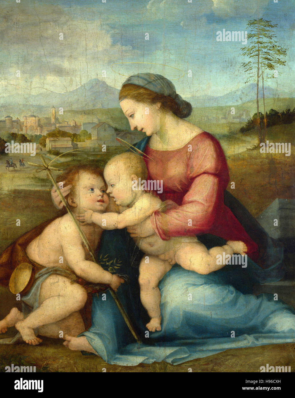 Fra Bartolommeo -  The Madonna and Child with Saint John  -  1516 Stock Photo