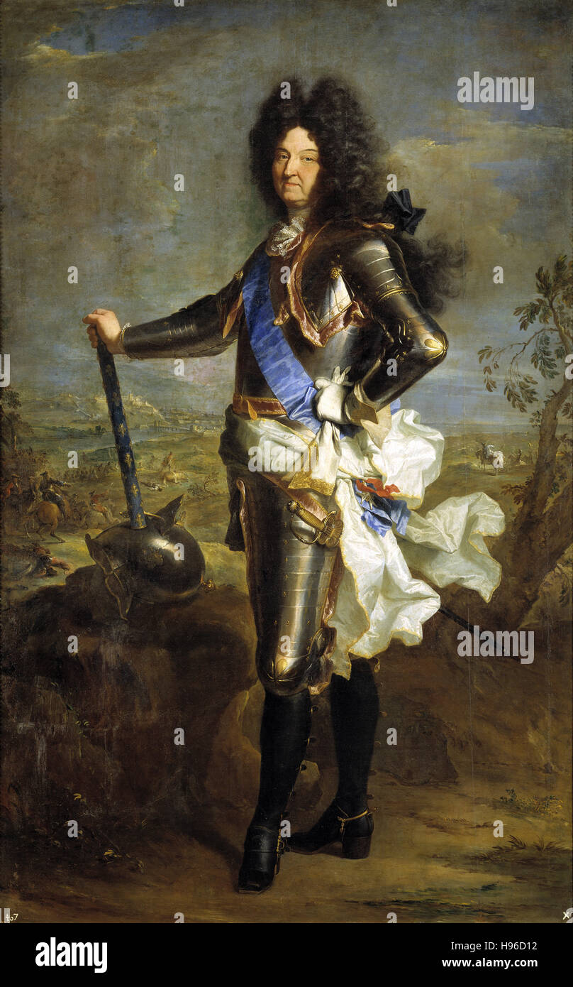 HYACINTHE RIGAUD - Louis XIV, King of France - 1701 Stock Photo