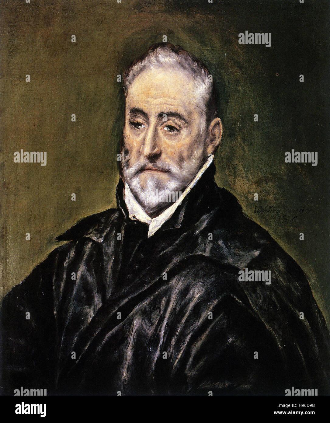 Domínikos Theotokópoulos a.k.a El Greco - Antonio de Covarrubias - Stock Image