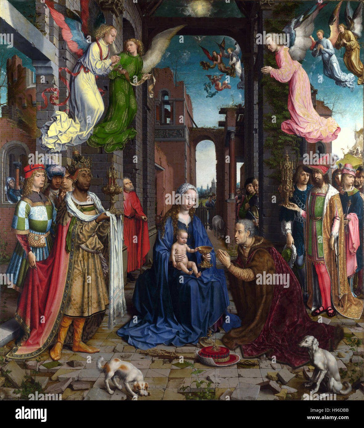 Jan Gossaert -  The Adoration of the Kings  - 1515 - Stock Image