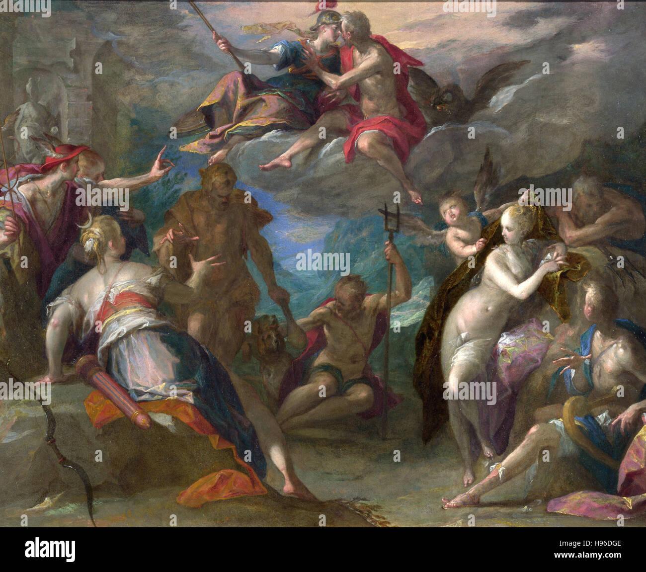HANS VON AACHEN - The Amazement of the Gods - Stock Image