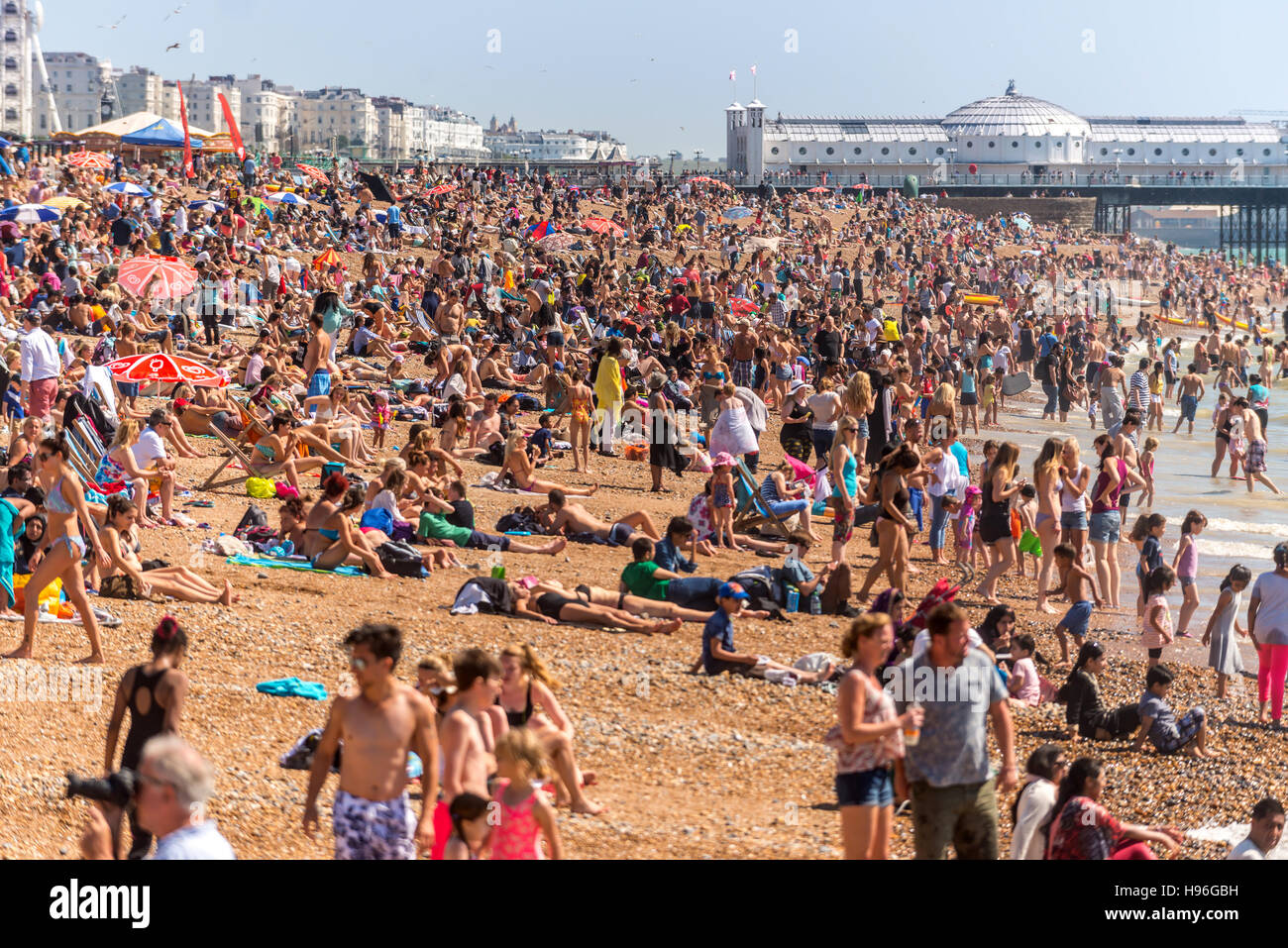 Brighton beach - Stock Image
