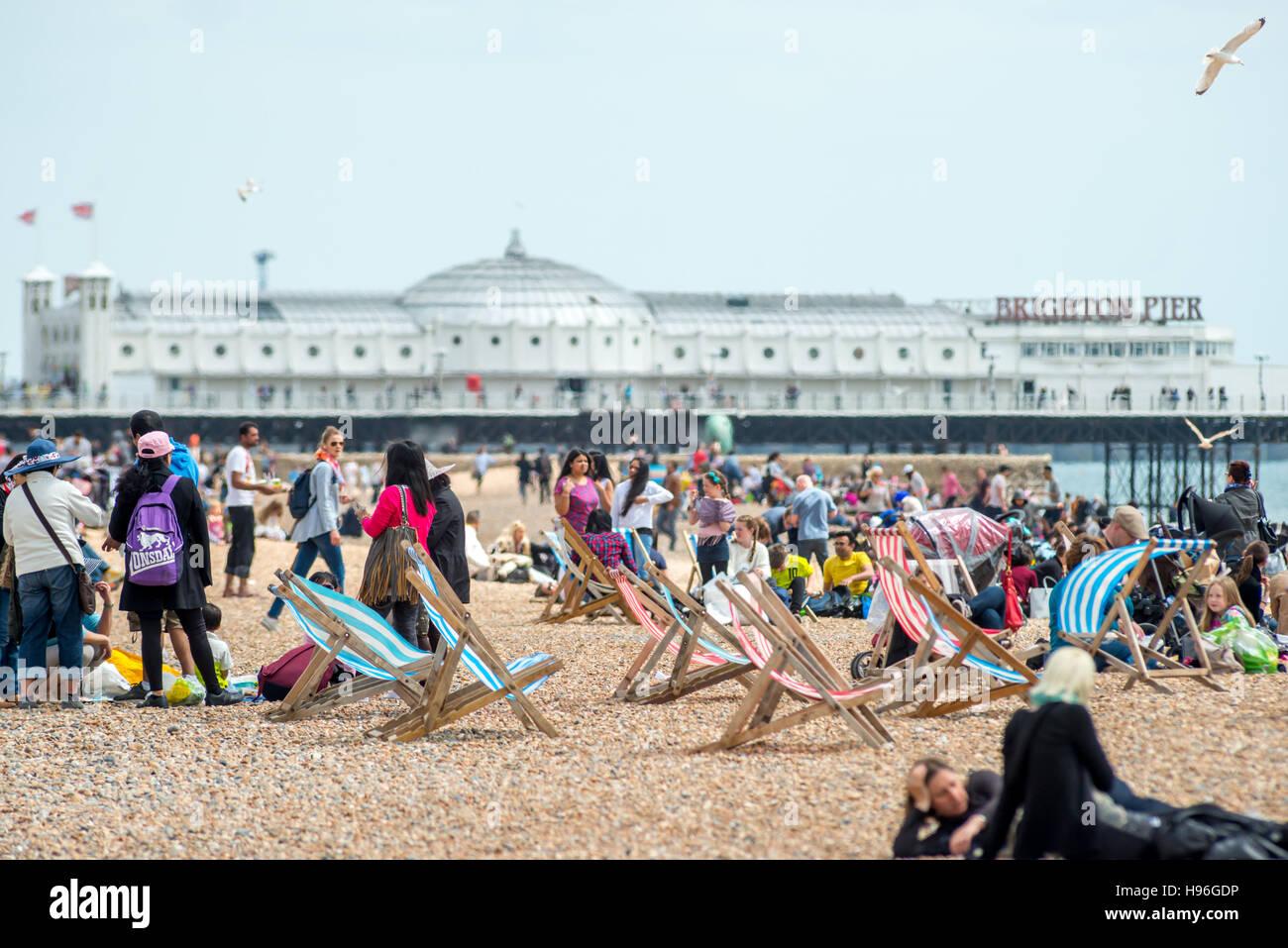 Brighton beach - Stock Image
