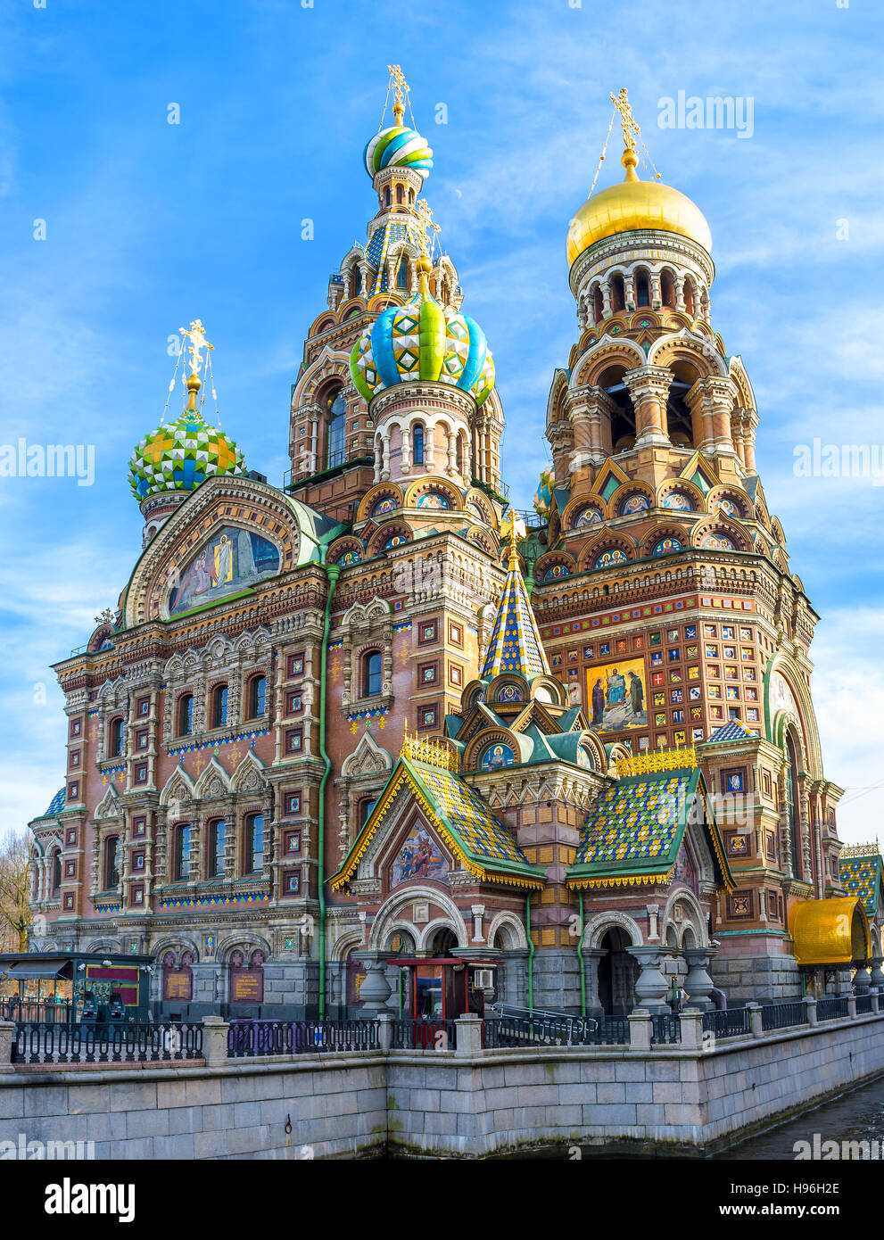The medieval Romantic Nationalism of the Church of the Savior on Spilled Blood is very unusual for  Baroque and - Stock Image