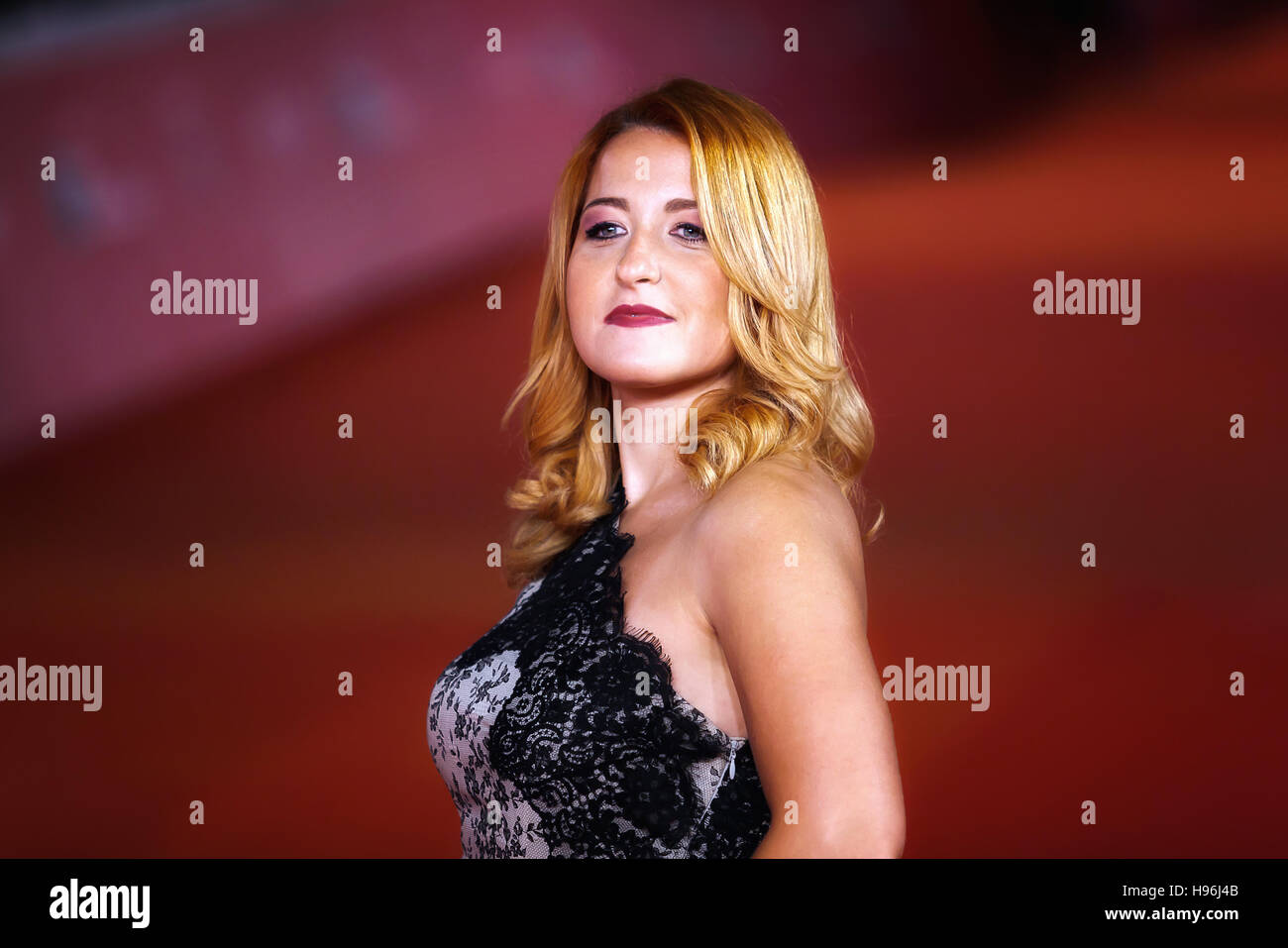 Rome, Italy - October 16, 2016: Maria Teresa Merlino walks a red carpet for 'The Rolling Stone Ole' Ole' - Stock Image