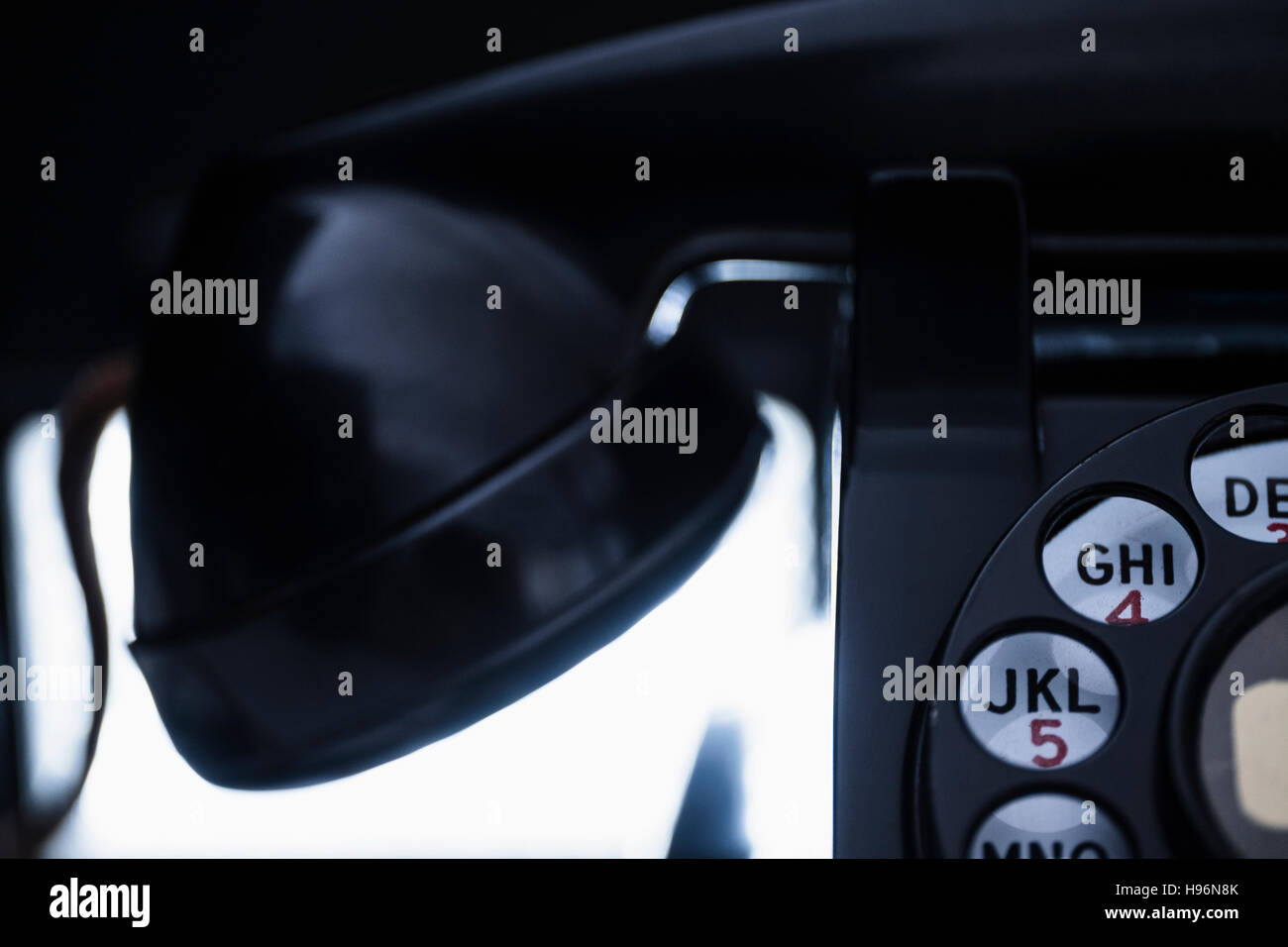 Close-up of retro styled telephone - Stock Image