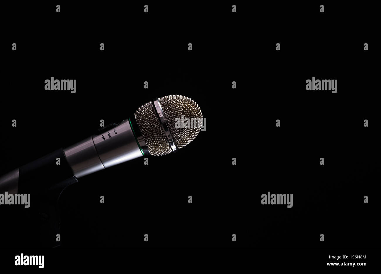 Retro styled microphone - Stock Image