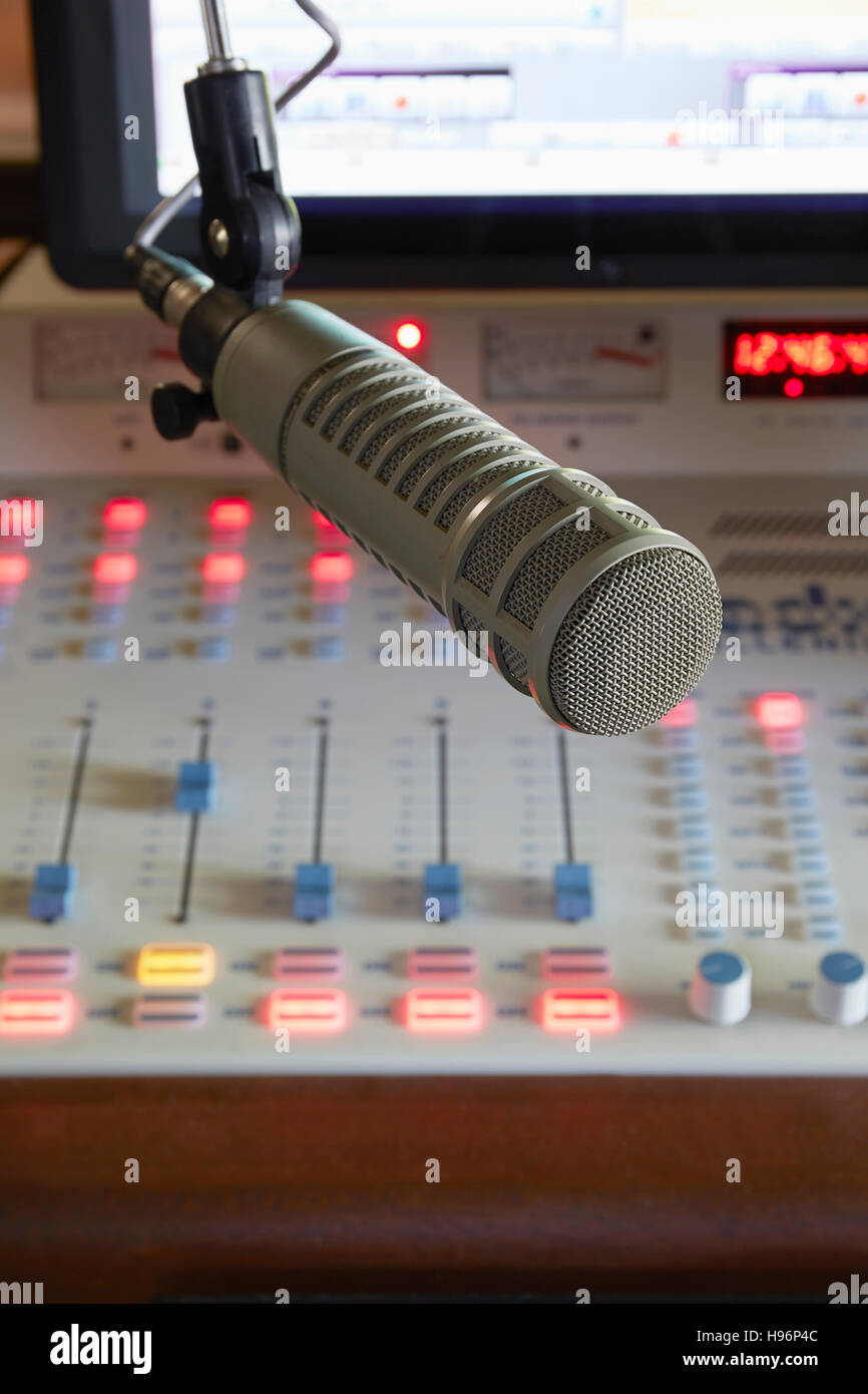 Devices for broadcasters Stock Photo