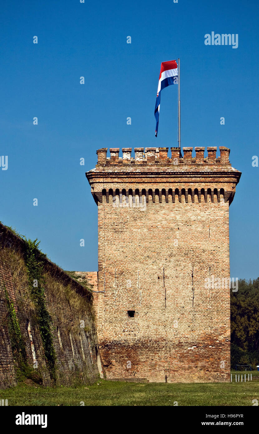 Section of the bastions and the water tower, remains of the once immense ramparts, parts of the first and seventh - Stock Image