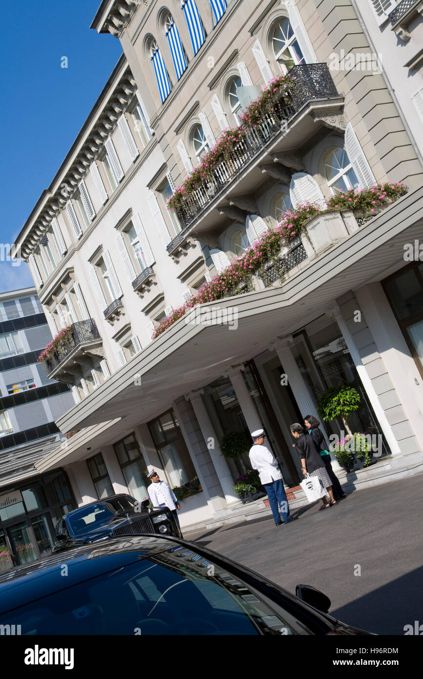 Hotel Baur Au Lac Luxury Hotel Zurich Switzerland Stock Photo