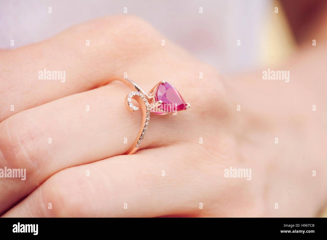 Ruby Gem Woman Stock Photos & Ruby Gem Woman Stock Images - Alamy