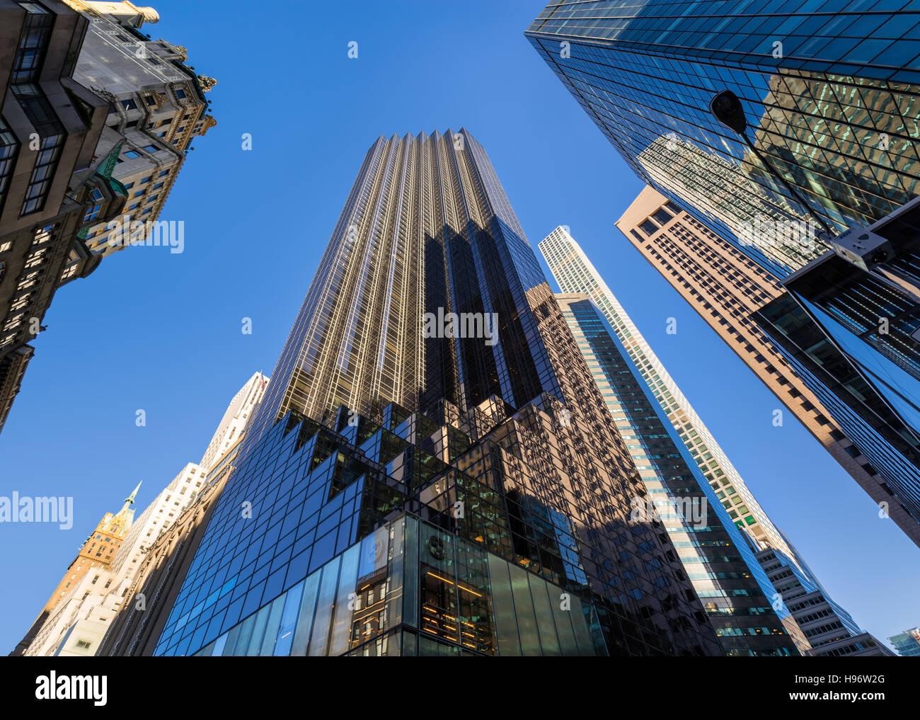 Trump Tower skyscraper on 5th Avenue. Midtown Manhattan, New York City - Stock Image