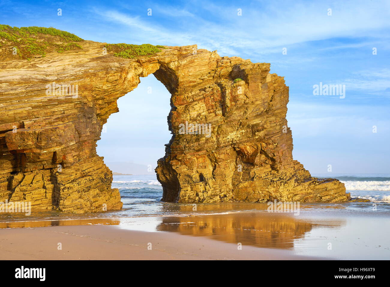 Beach of the cathedrals, Praia As Catedrais, Ribadeo, Spain - Stock Image