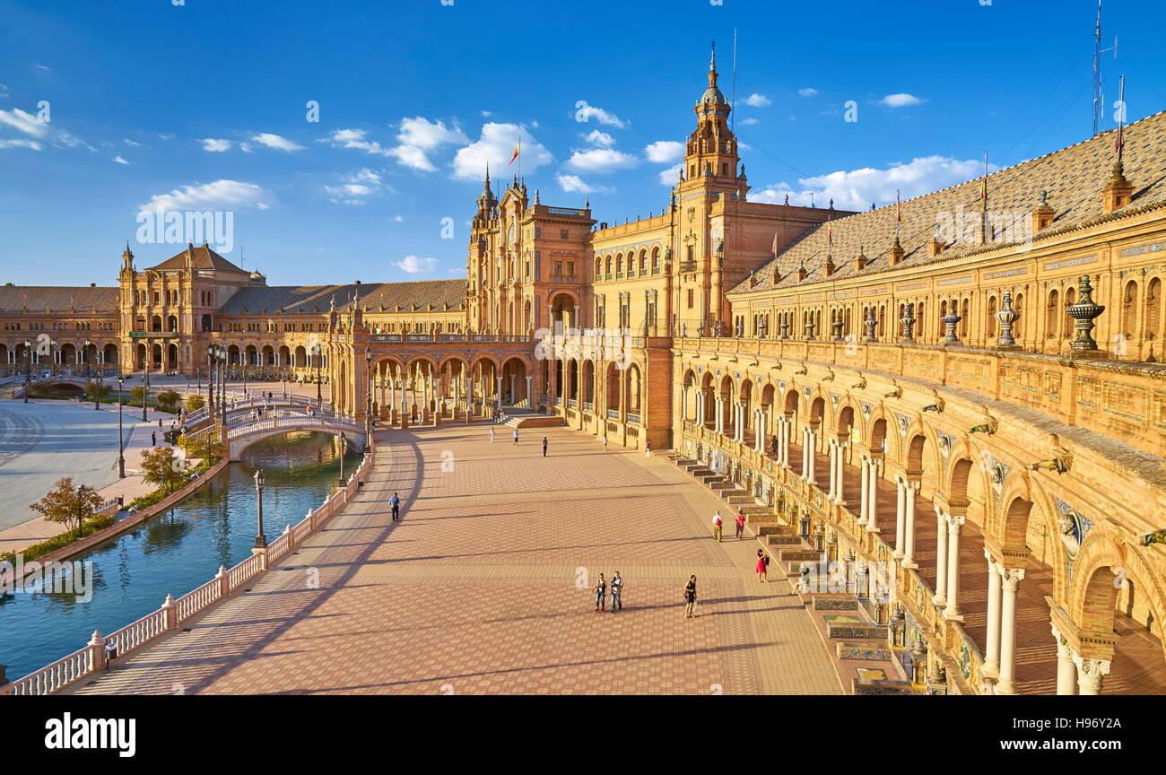 Plaza de Espana - Seville, Andalusia, Spain - Stock Image