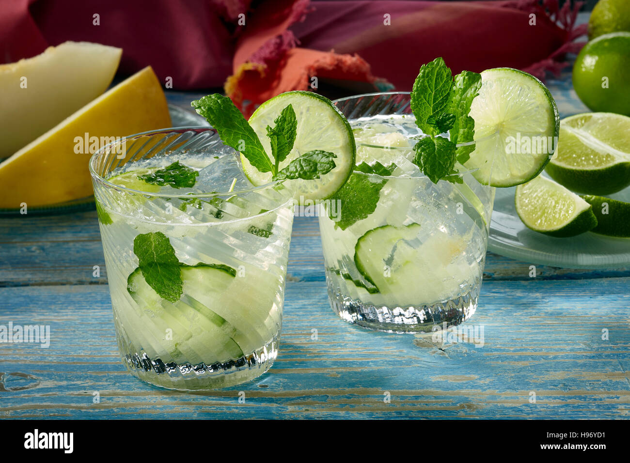 Honeydew aqua fresca - Stock Image