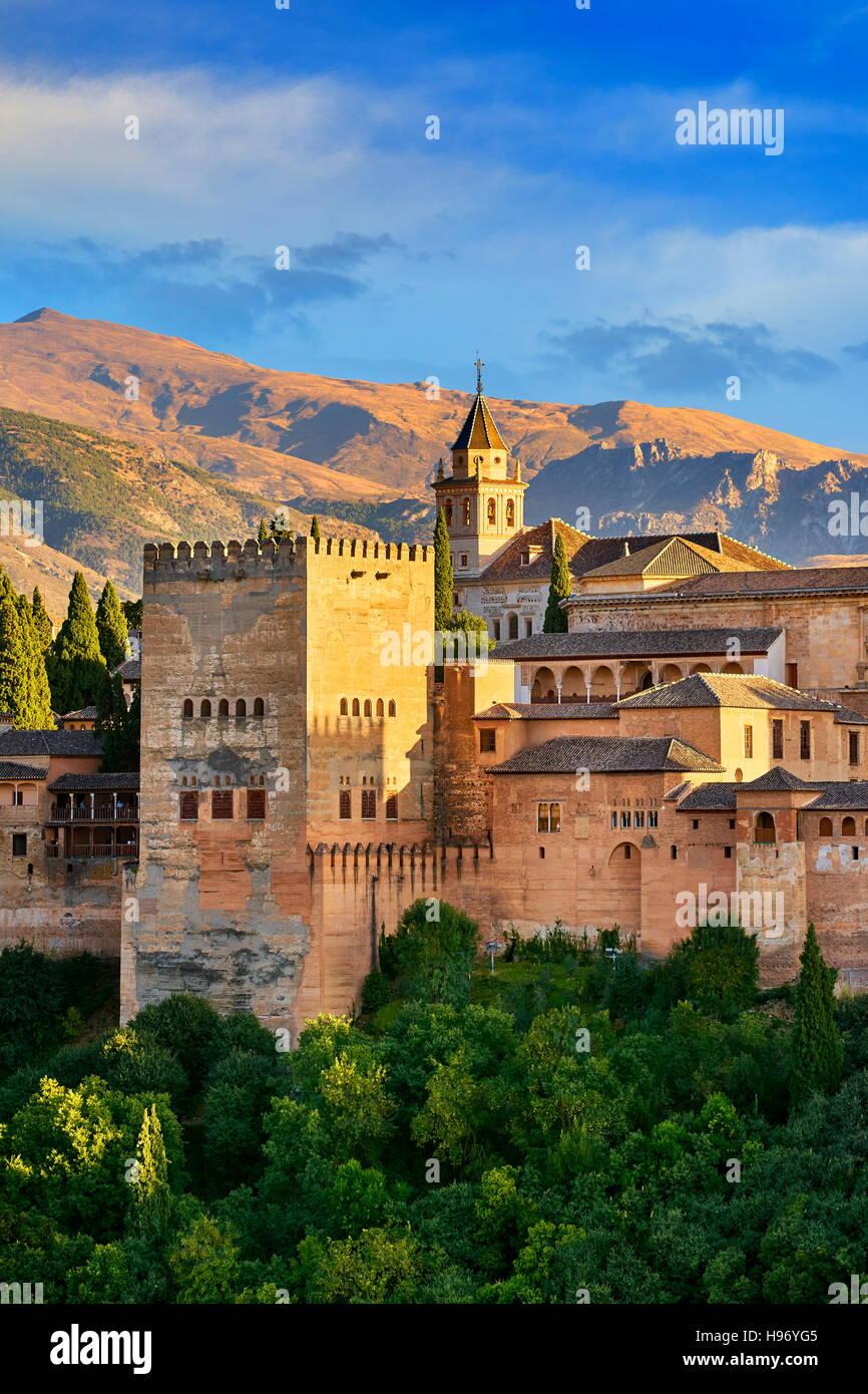 Alhambra Palace, Granada, Andalusia, Spain Stock Photo
