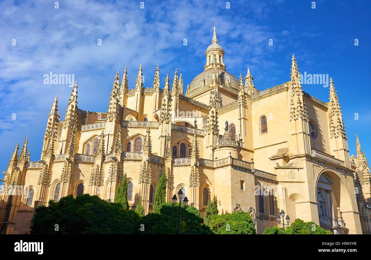 Segovia cathedral, Segovia, Spain - Stock Image