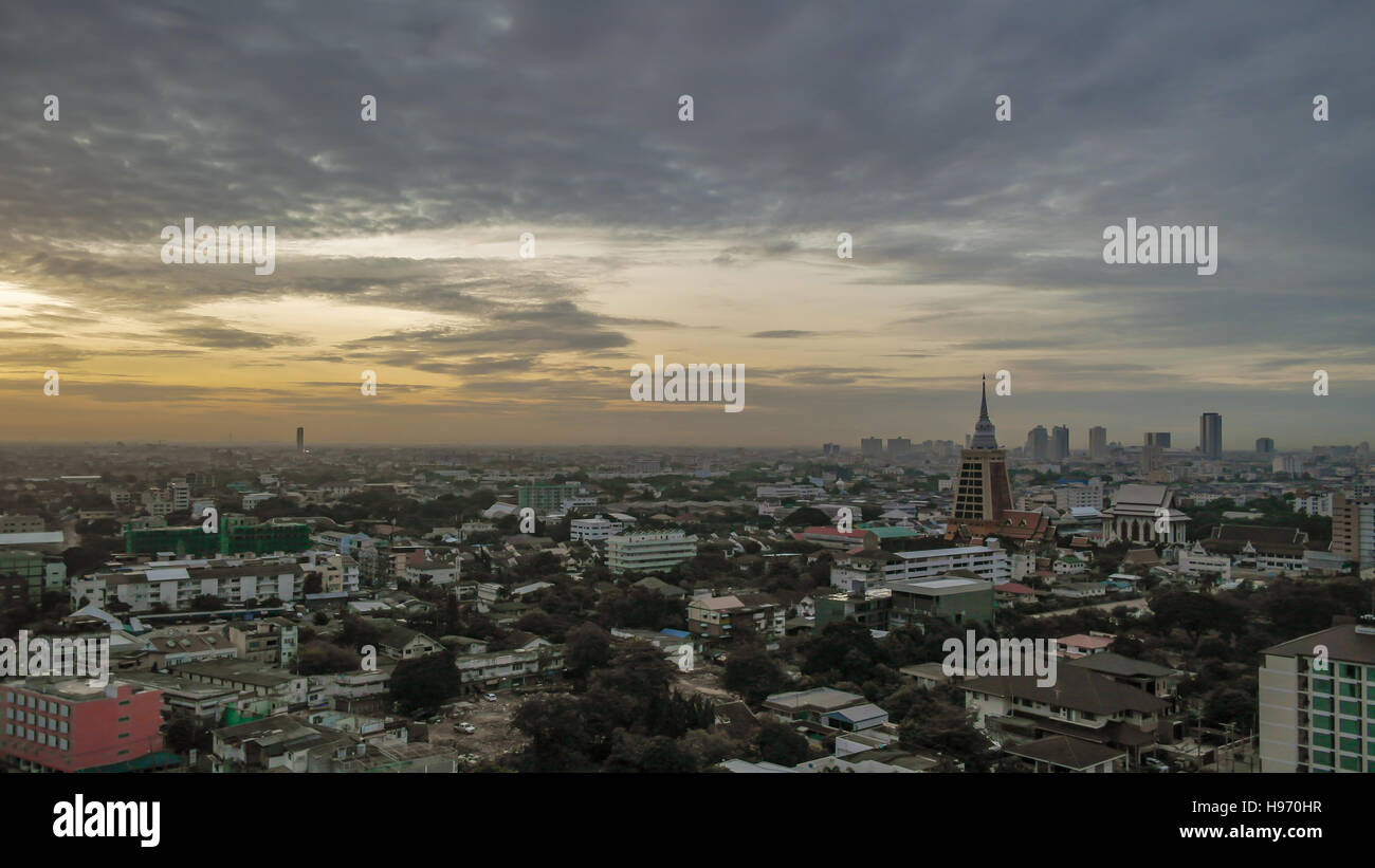 Bangkok skyline at sunset - Bangkok -Thailand - Stock Image