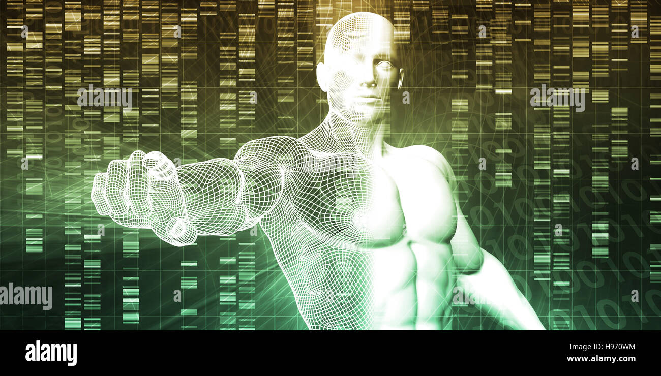 Genetic Modification as a Science Concept Industry Art - Stock Image