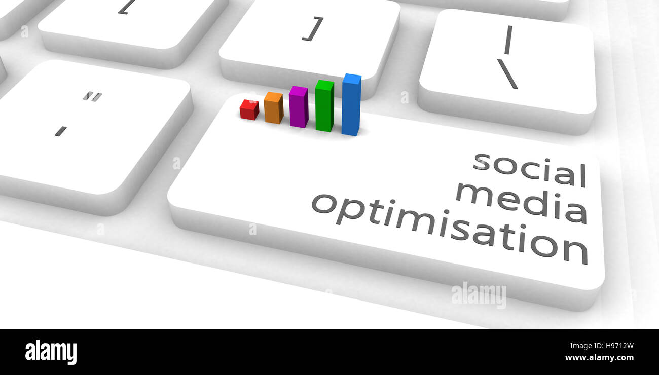 Social Media Optimisation or SMO as Concept - Stock Image