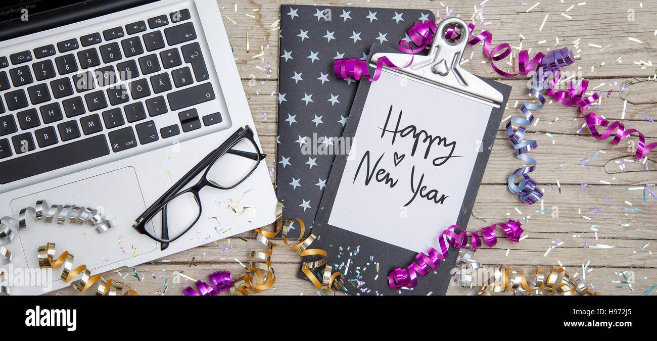 New Years Eve Business Card - Stock Image