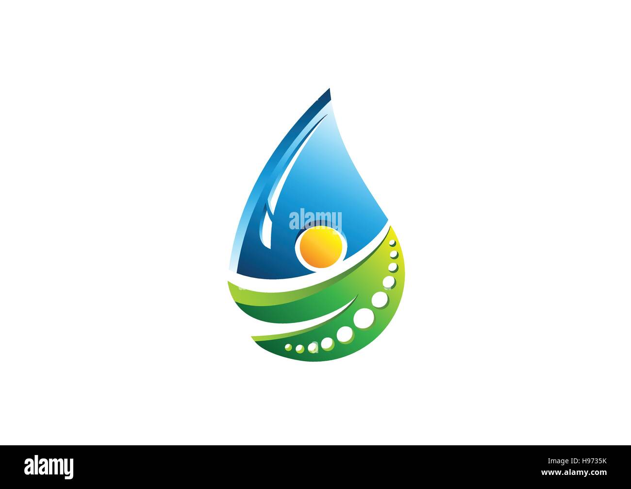 Water Drop Logo People Health Therapy Symbol Icon Drops Natural