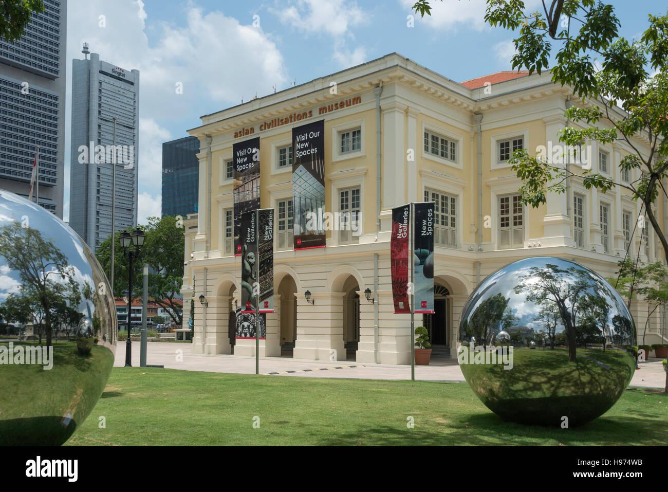 Asian Civilisations Museum (ACM), Empress Place, Civic District, Singapore Island, Singapore - Stock Image