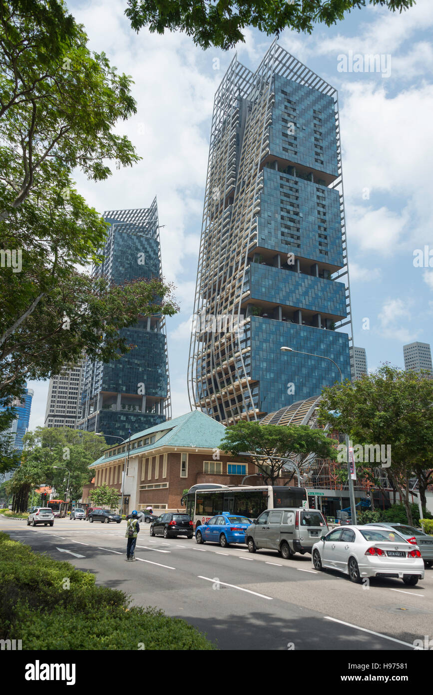 South Beach Tower, Beach Road, Downtown Core, Singapore Island, Singapore - Stock Image