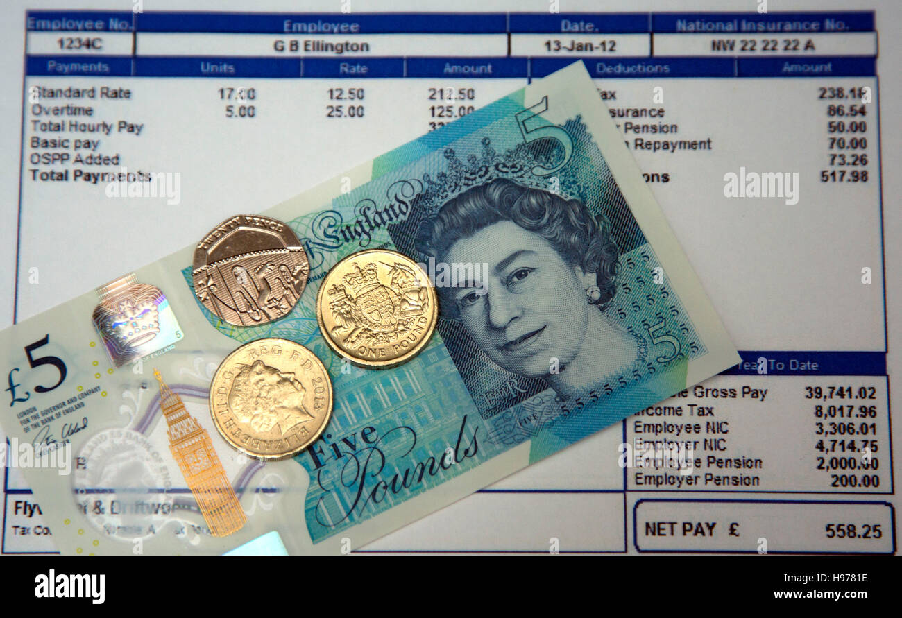 National Minimum Wage is £7.20 an hour from October 2016, London - Stock Image