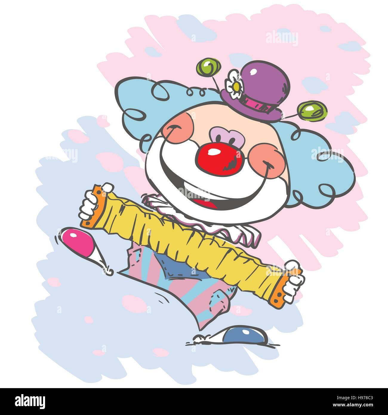 circus clown artist - Stock Vector