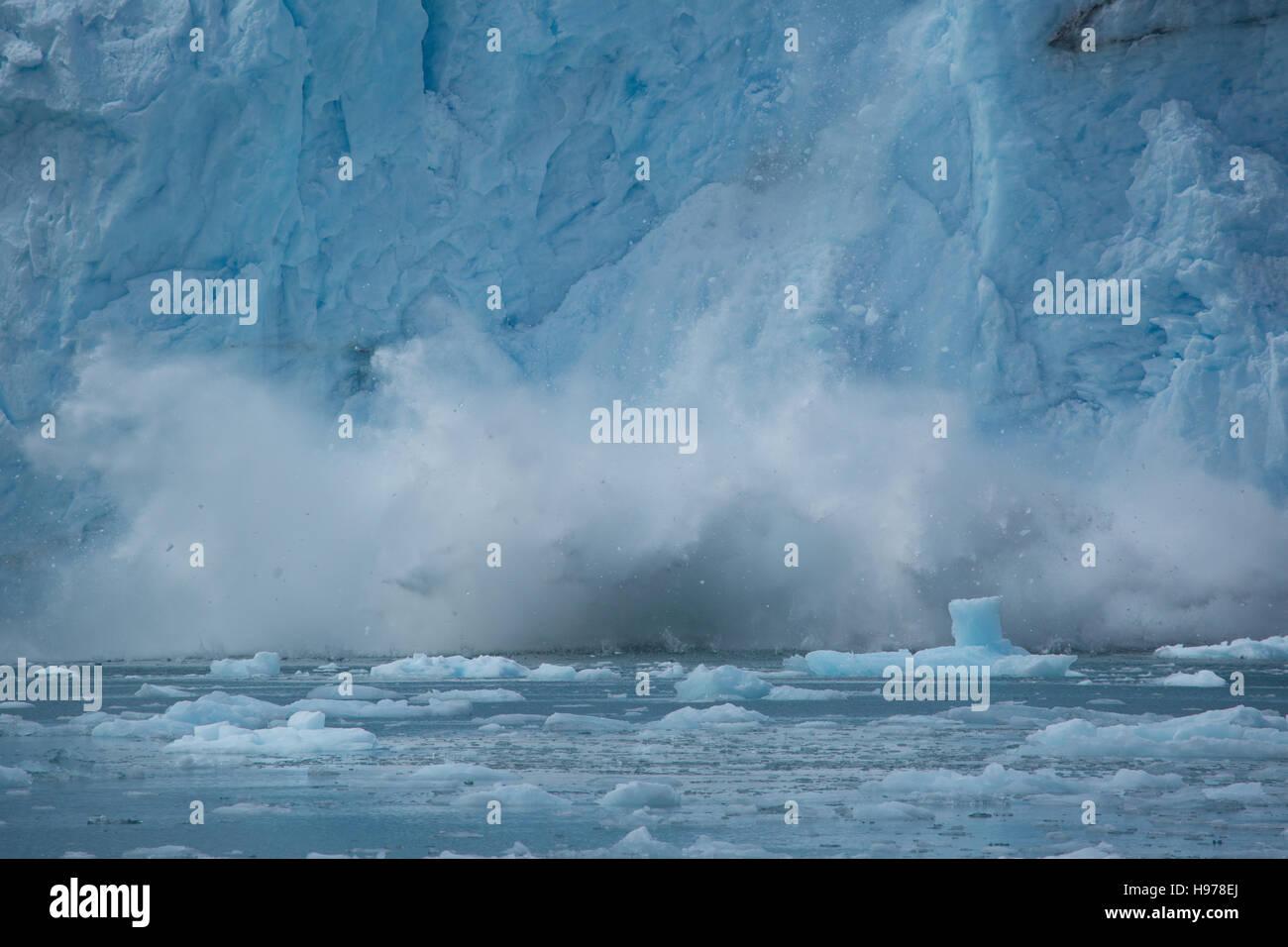 glacial ice in alaska - Stock Image