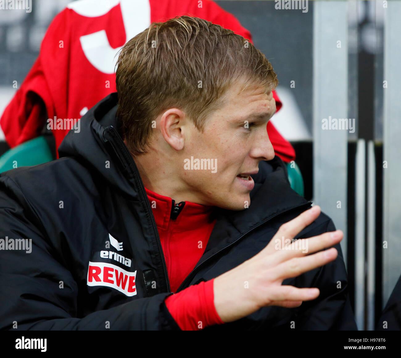 sports, football, Bundesliga, 2016/2017, Borussia Moenchengladbach versus 1. FC Koeln 1:2, Stadium Borussia Park, - Stock Image