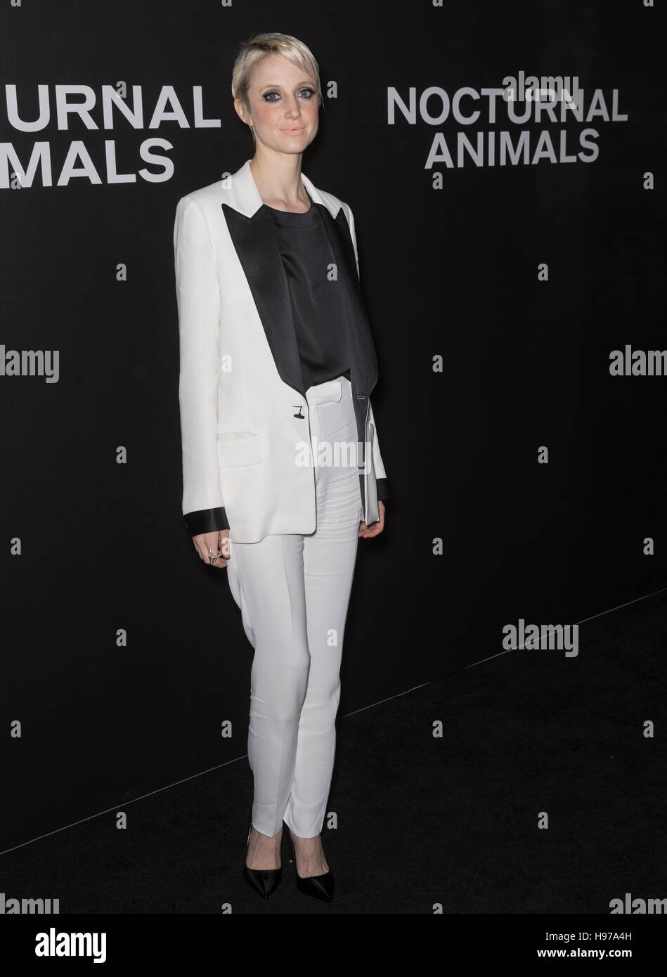 New York City, USA - November 17, 2016: Actress Andrea Riseborough attends the 'Nocturnal Animals' New York - Stock Image