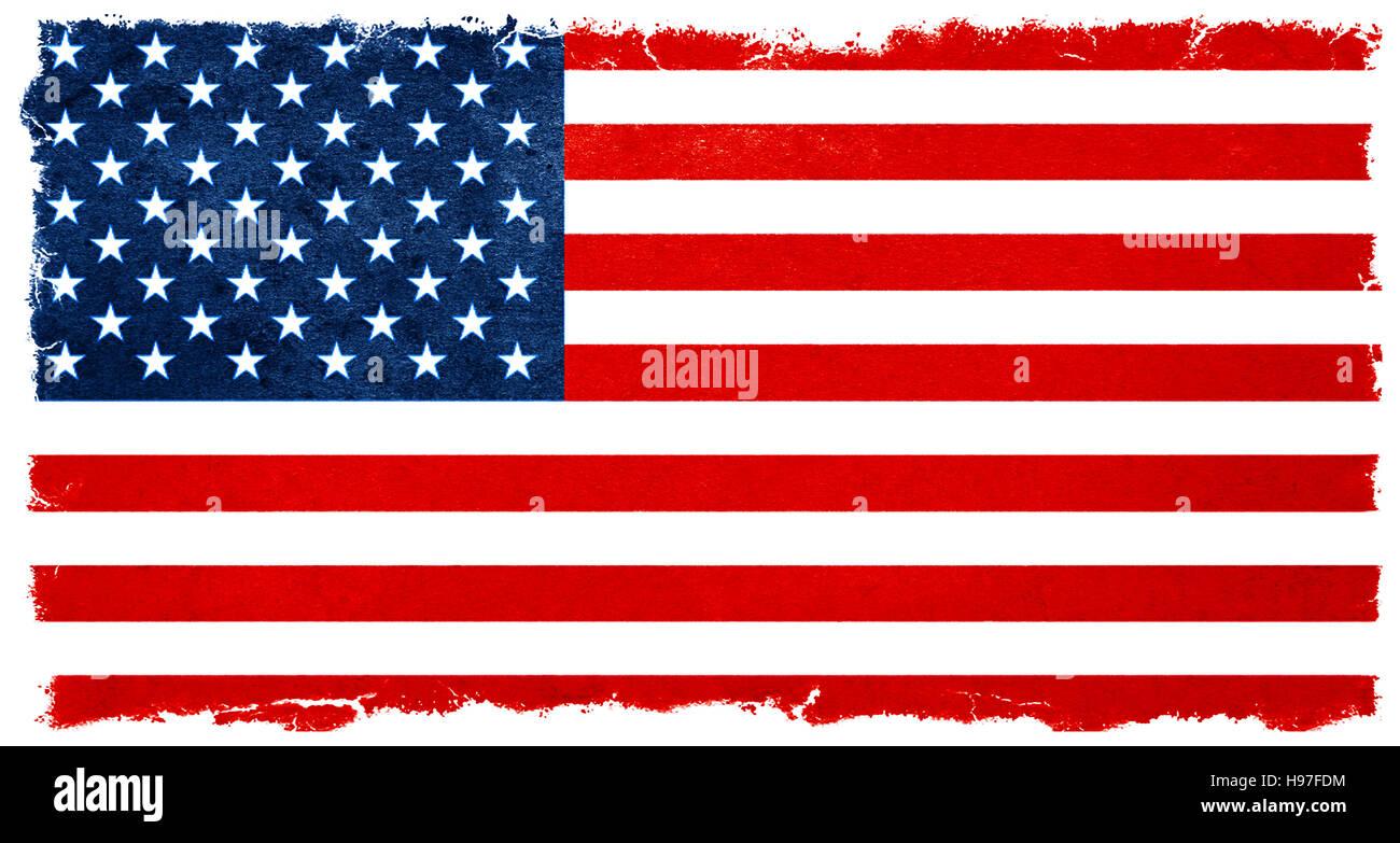 old designed vintage american flag banner background election stock