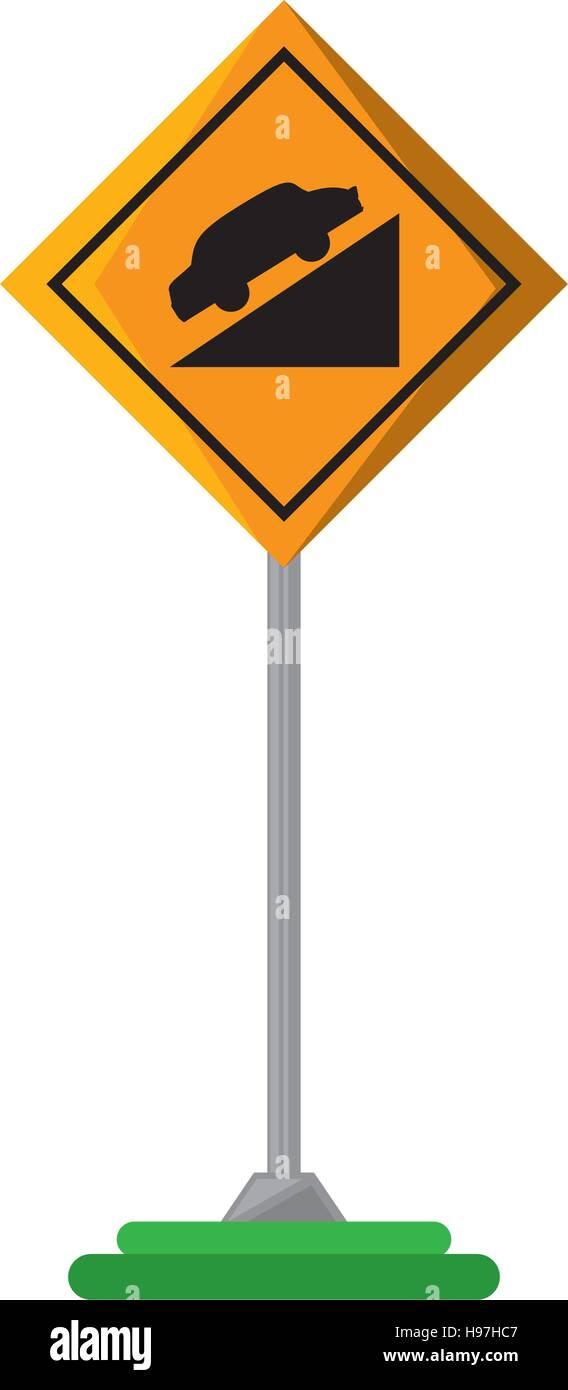 high decline traffic signal - Stock Image
