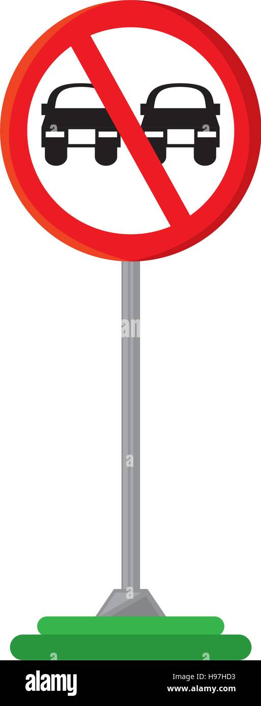 no overtaking traffic signal - Stock Image