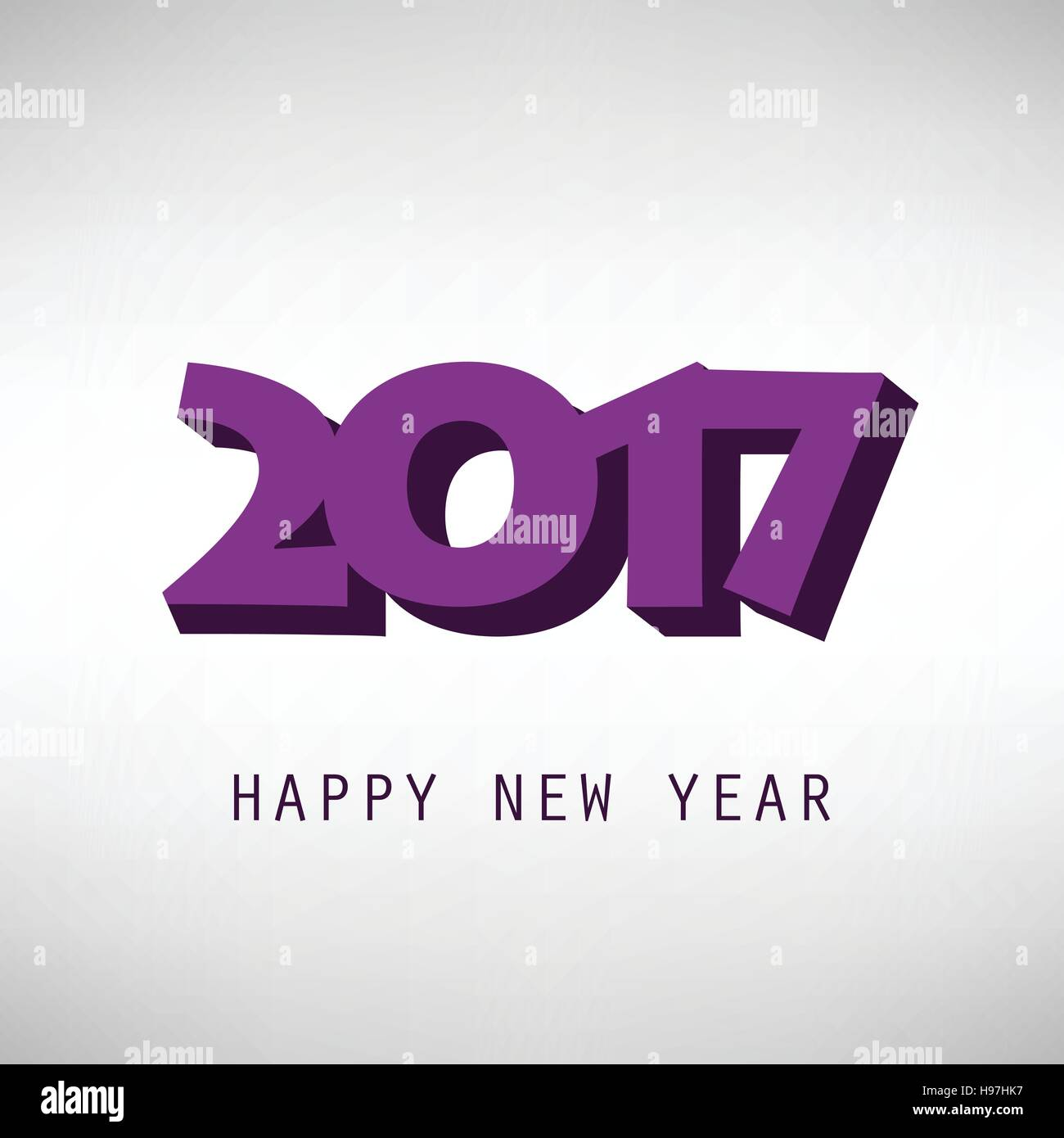 best wishes simple new year card cover or background design template 2017