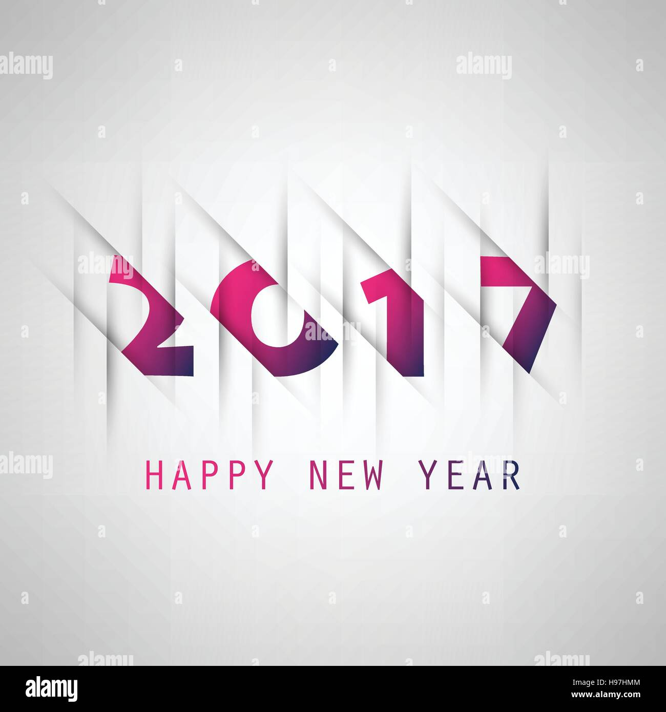 simple purple and blue new year card cover or background design template 2017