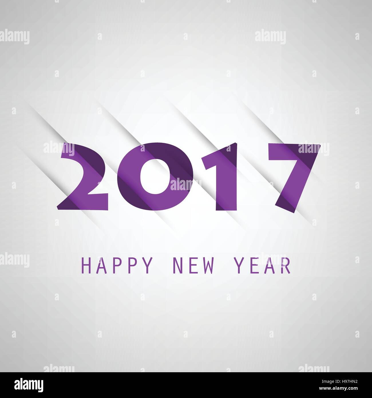 simple purple new year card cover or background design template 2017