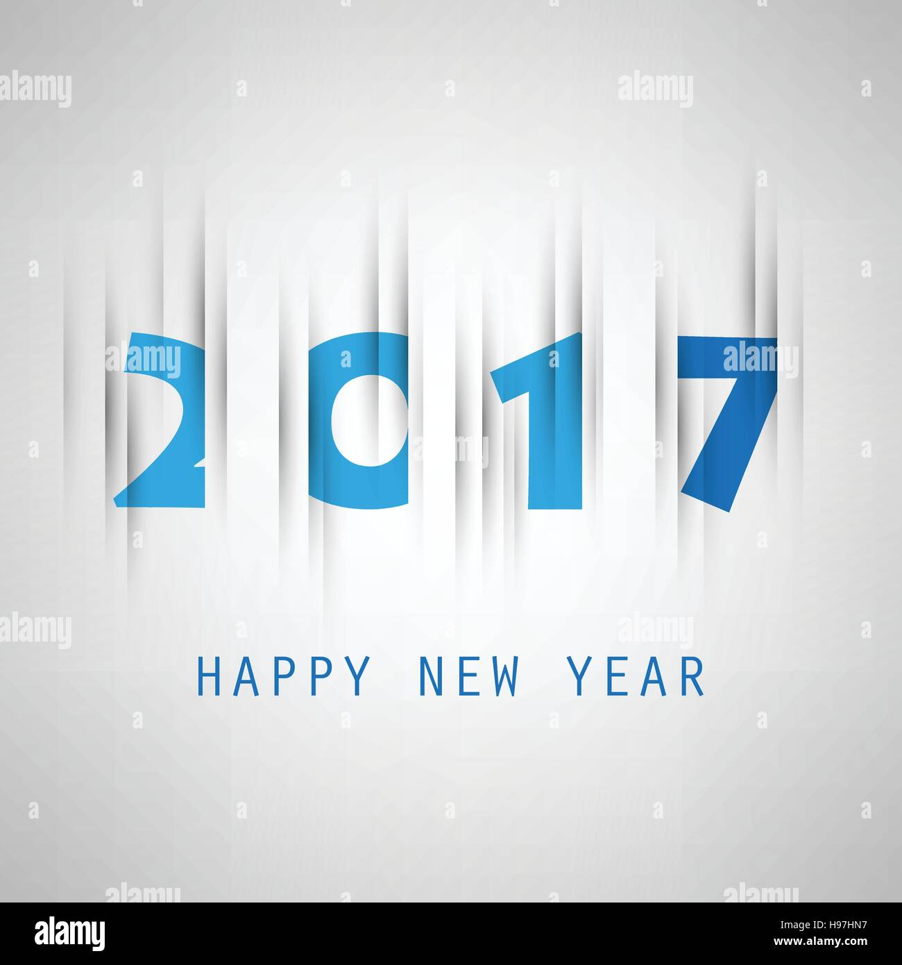 simple blue new year card cover or background design template 2017